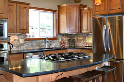 The gourmet kitchen is great for those days you want to create the perfect meal! Hayden Lake House Vacation Rental, Hayden Lake, Idaho